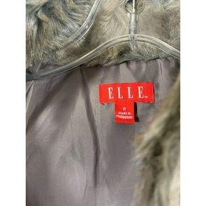 Elle Jackets & Coats - Elle Faux Fur Gray/Brown Vest Size S